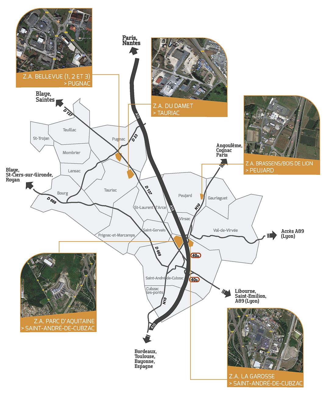 Projet Piscine Saint Andre De Cubzac les zones d'activités | grand cubzaguais communauté de communes
